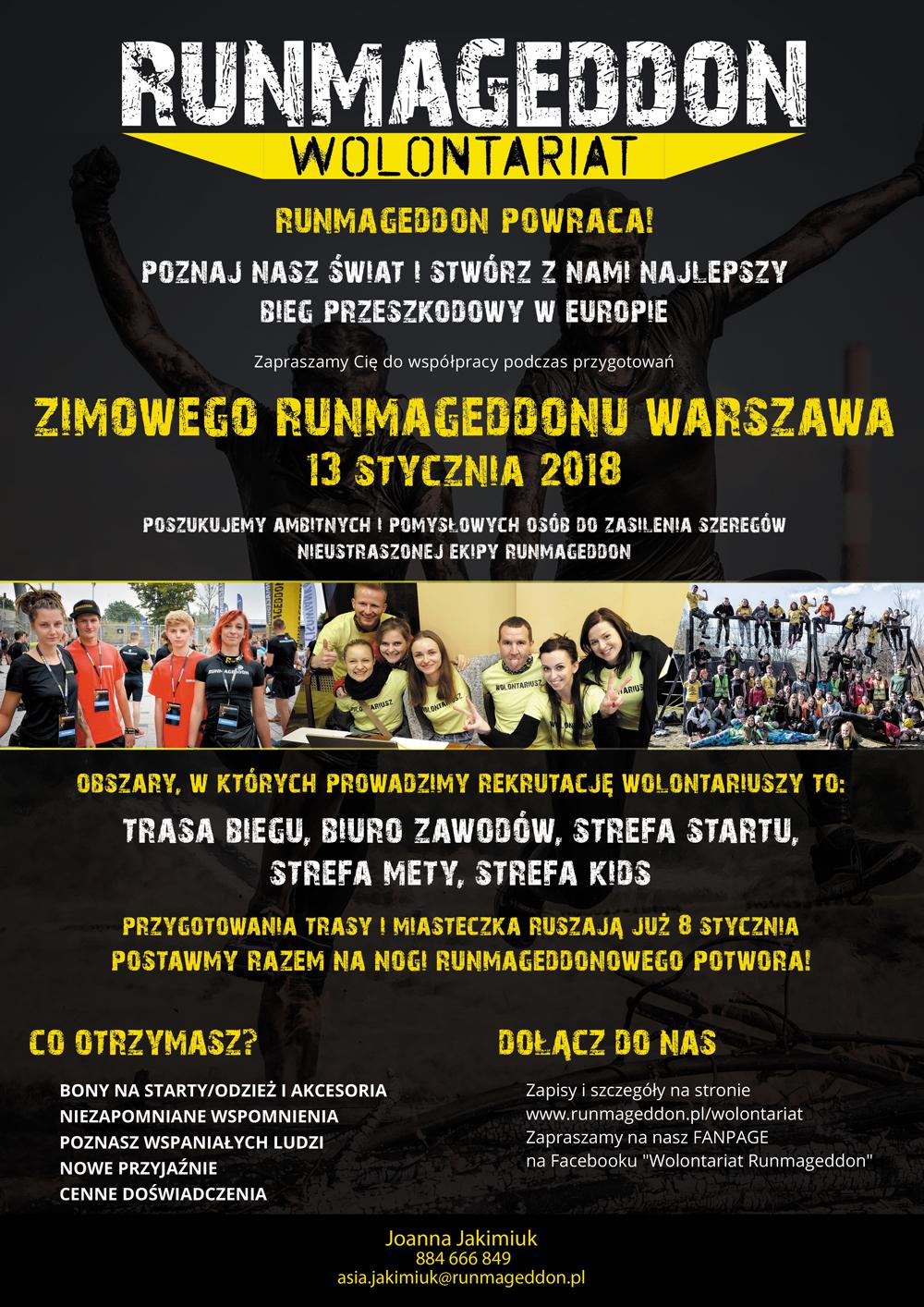 Runmageddon w Warszawie! Stwórzmy razem najlepszy bieg przeszkodowy w Europie!