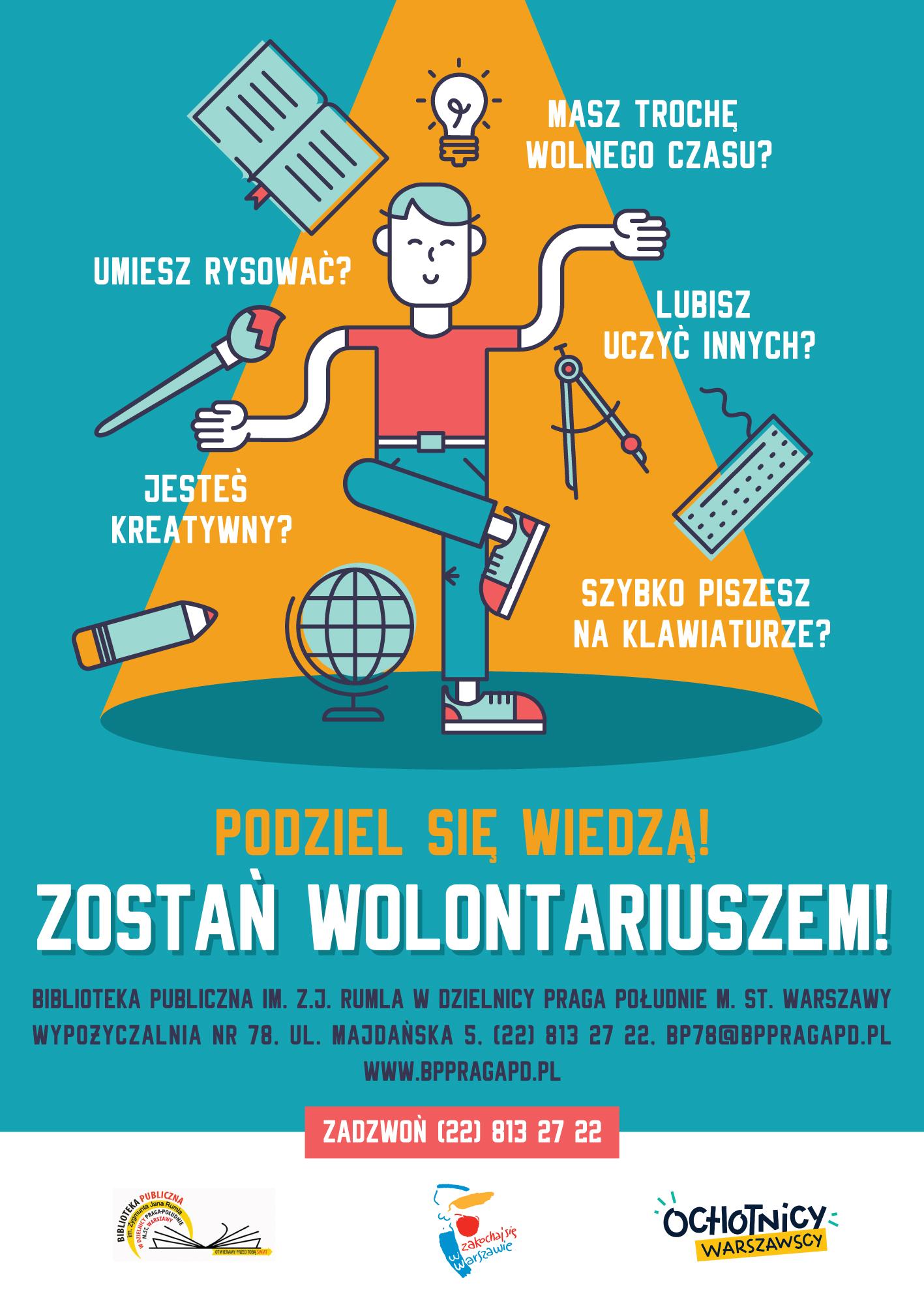 Poszukiwany wolontariusz do prowadzenia zajęć w języku obcym